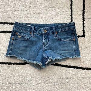 QSD Medium Wash Cutoff Denim Shorts